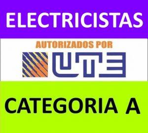 listado electricista autorizado por ute